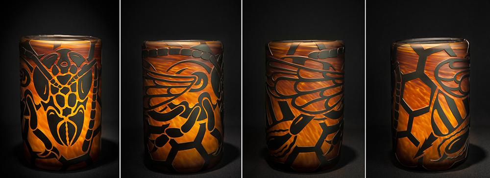 Bee-dark amber