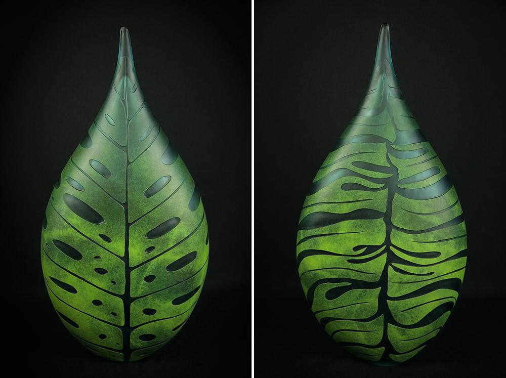 Monstera leaf sculpture